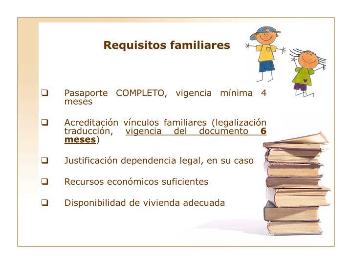 Requisitos familiares