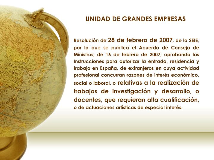 UNIDAD DE GRANDES EMPRESAS