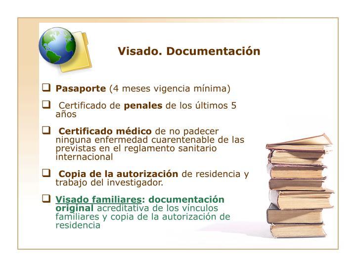 Visado. Documentación