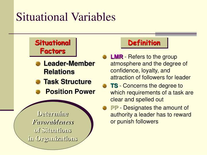 Leader-Member Relations