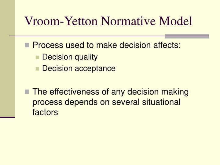 Vroom-Yetton Normative Model
