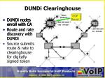 dundi clearinghouse