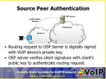 source peer authentication