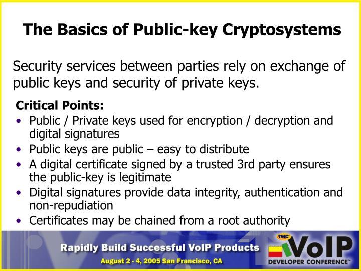 The Basics of Public-key Cryptosystems