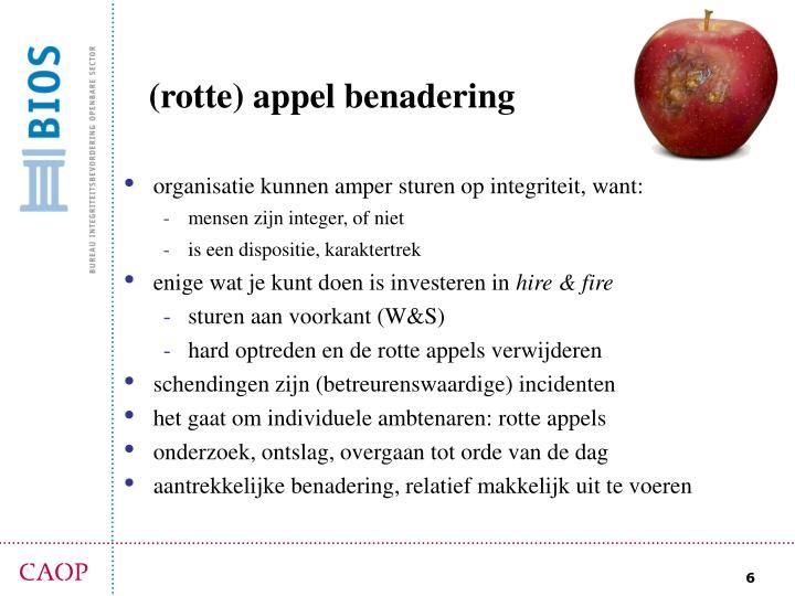 (rotte) appel benadering