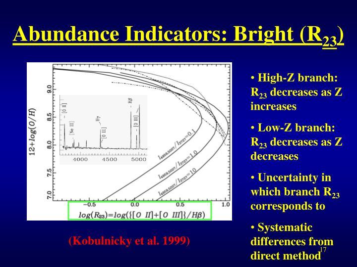Abundance Indicators: Bright (R