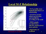 local m z relationship