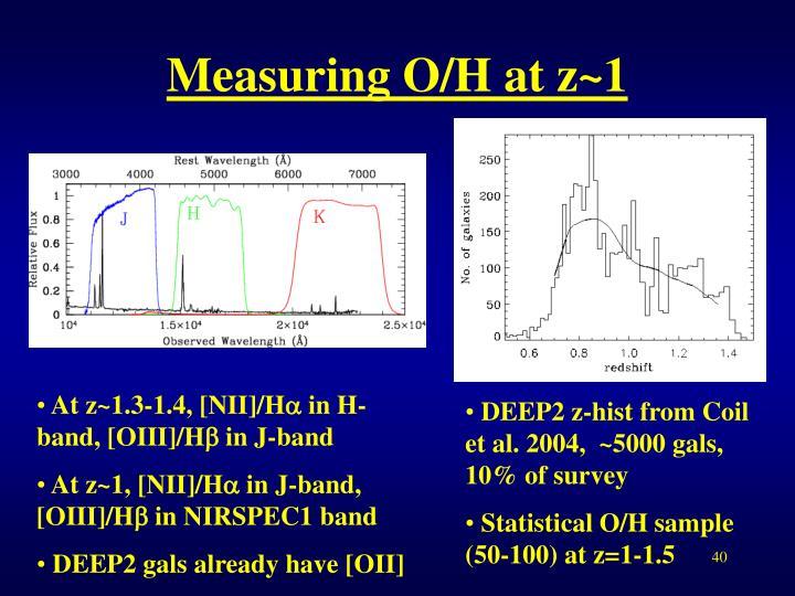 Measuring O/H at z~1