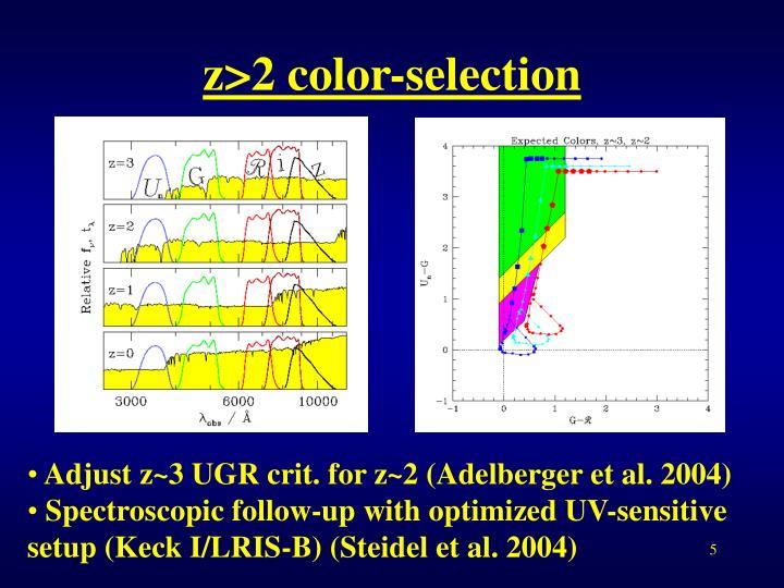 z>2 color-selection