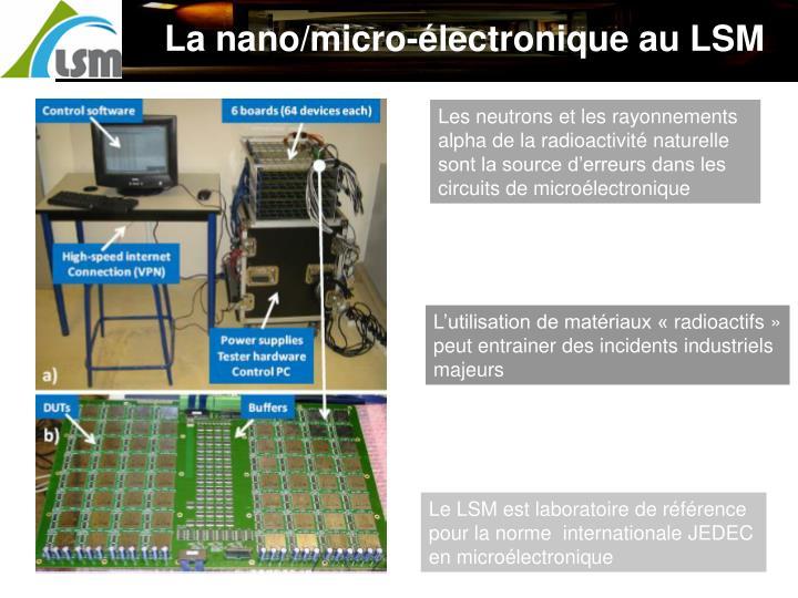 La nano/micro-électronique au LSM