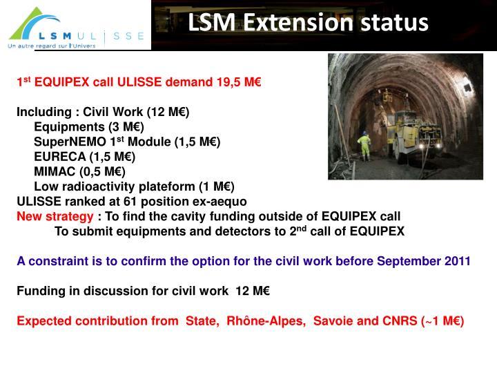 LSM Extension status