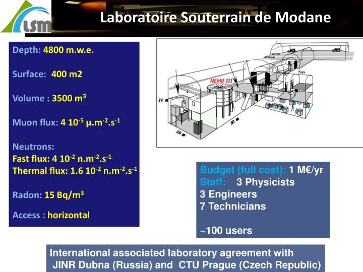 Laboratoire Souterrain de Modane