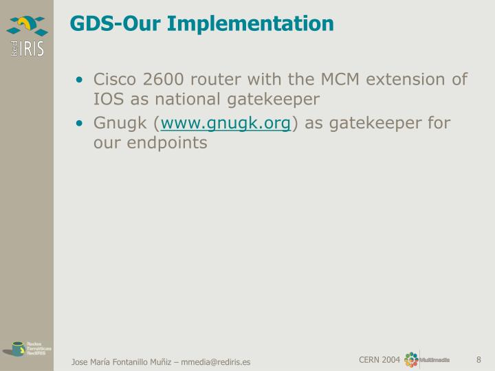GDS-Our Implementation