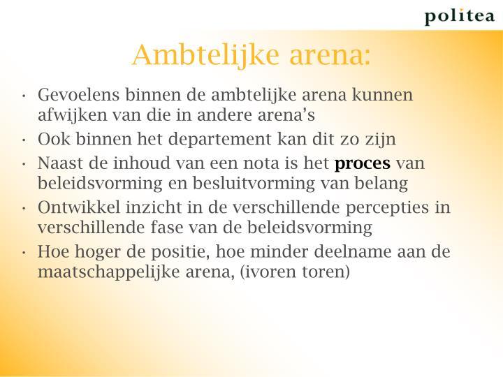 Ambtelijke arena: