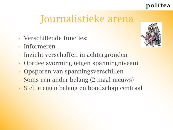 Journalistieke arena