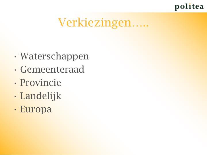 Verkiezingen…..