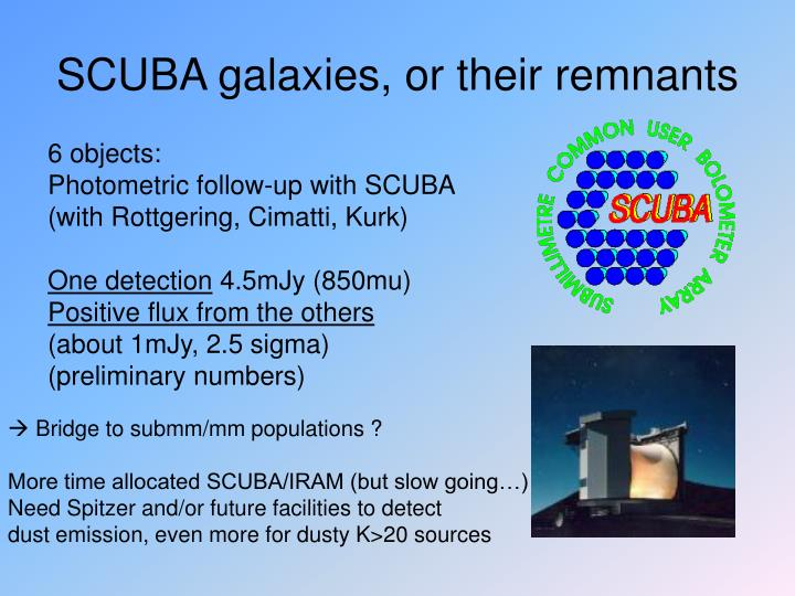 SCUBA galaxies, or their remnants
