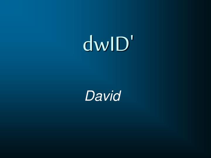 dwID'
