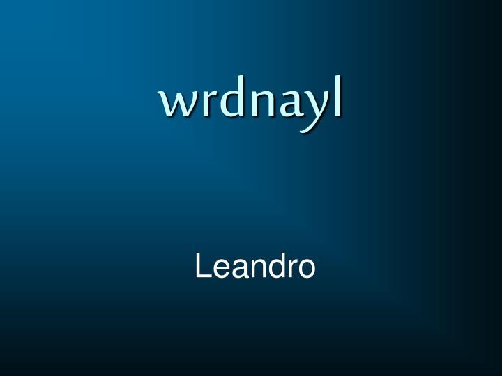 wrdnayl