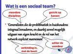 wat is een sociaal team