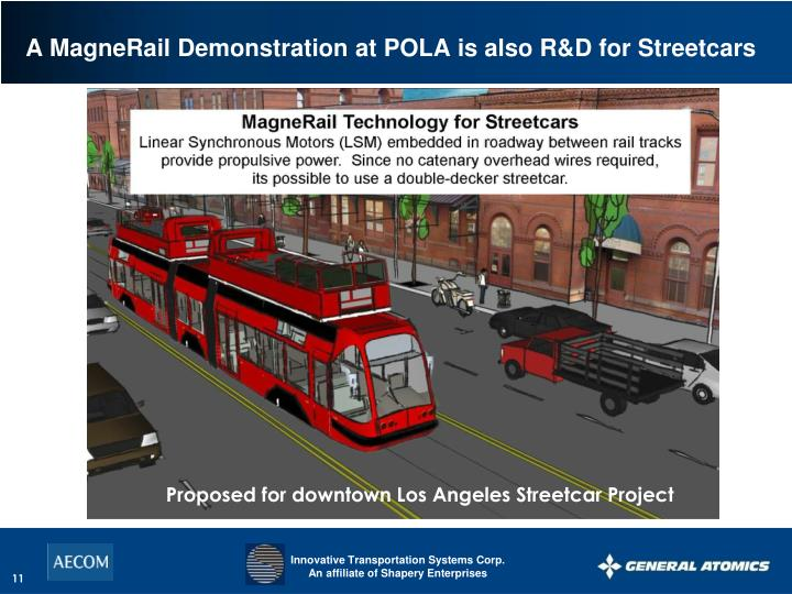 A MagneRail Demonstration at POLA is also R&D for Streetcars