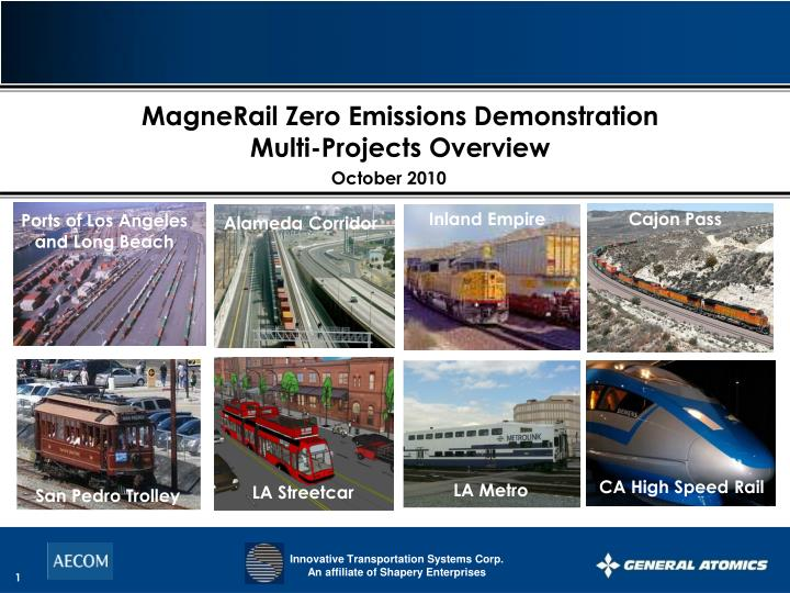 MagneRail Zero Emissions Demonstration
