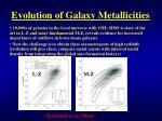 evolution of galaxy metallicities2