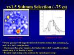 z 1 5 submm selection 75 zs