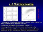 z 2 m z relationship