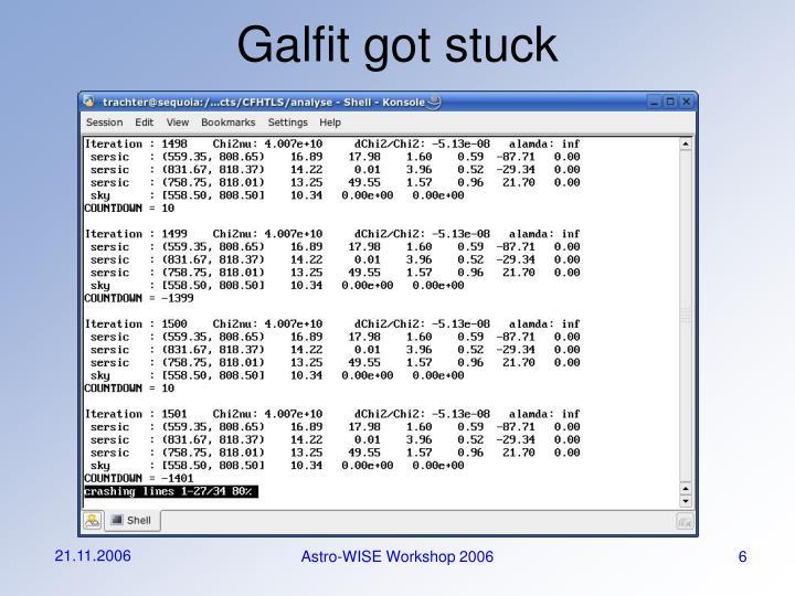 Galfit got stuck