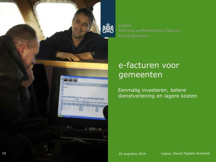 e-facturen voor gemeenten