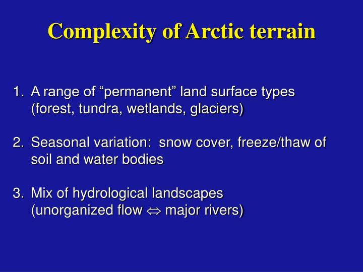 Complexity of Arctic terrain