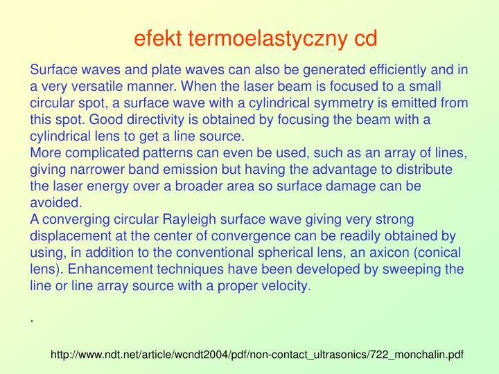 efekt termoelastyczny cd