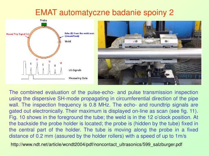 EMAT automatyczne badanie spoiny 2