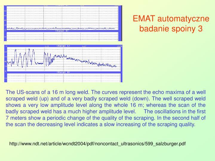 EMAT automatyczne badanie spoiny 3