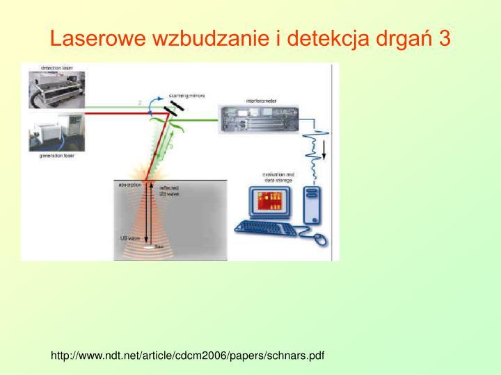 Laserowe wzbudzanie i detekcja drgań 3