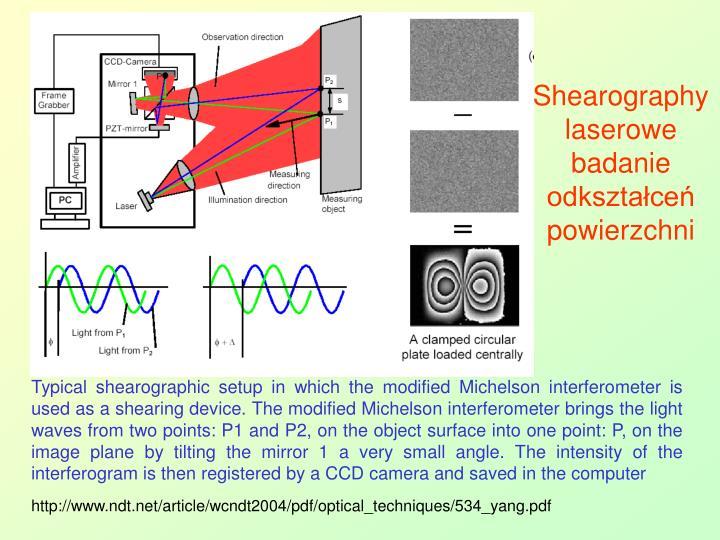 Shearography laserowe badanie odkształceń powierzchni