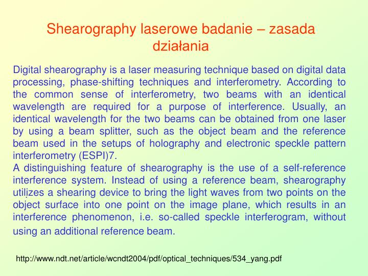 Shearography laserowe badanie – zasada działania