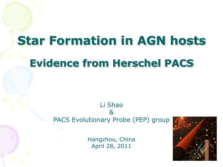 Star Formation in AGN hosts
