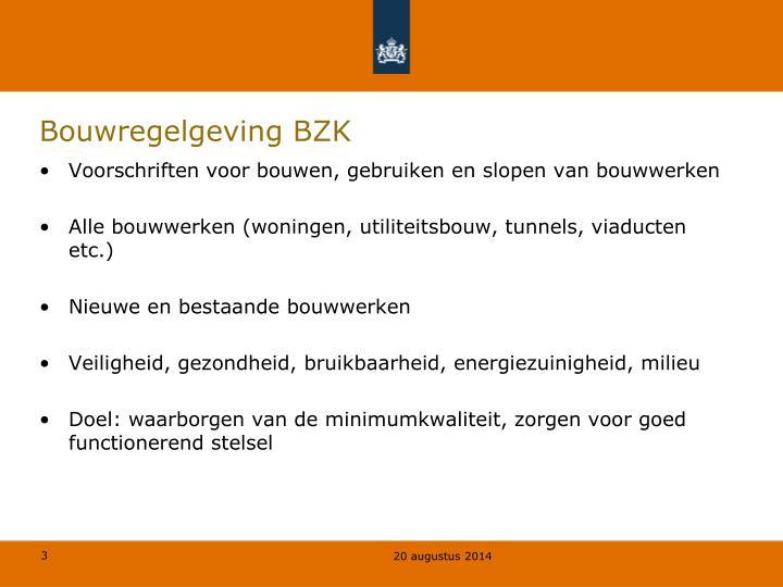 Bouwregelgeving BZK