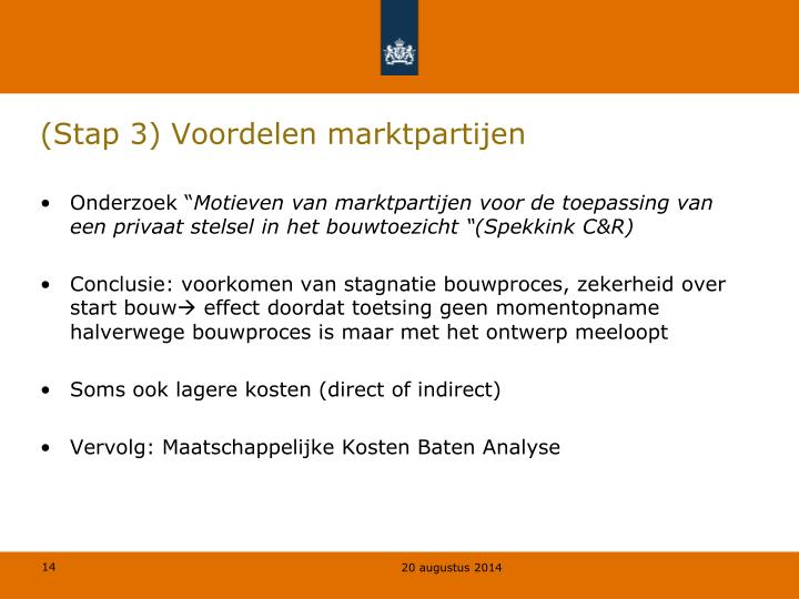 (Stap 3) Voordelen marktpartijen
