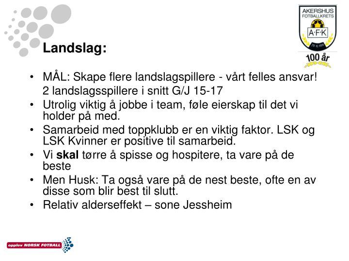 Landslag: