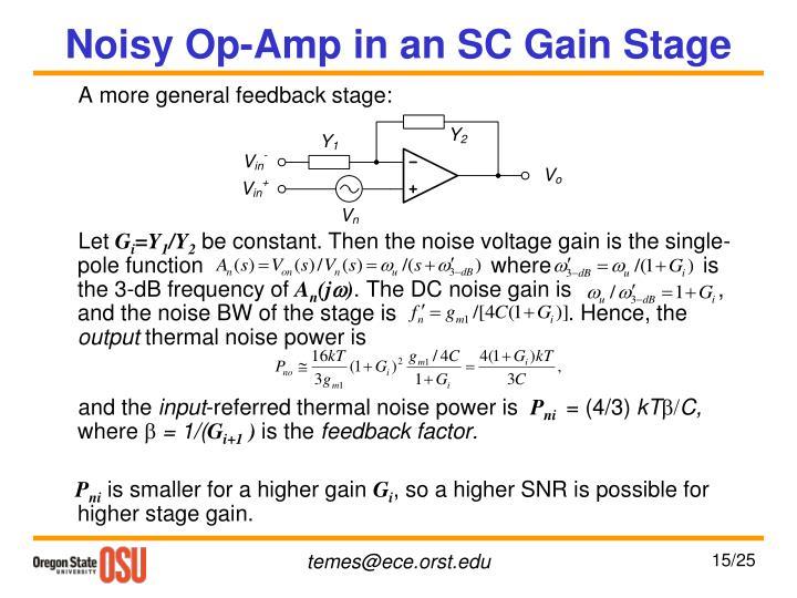 Noisy Op-Amp in an SC Gain Stage