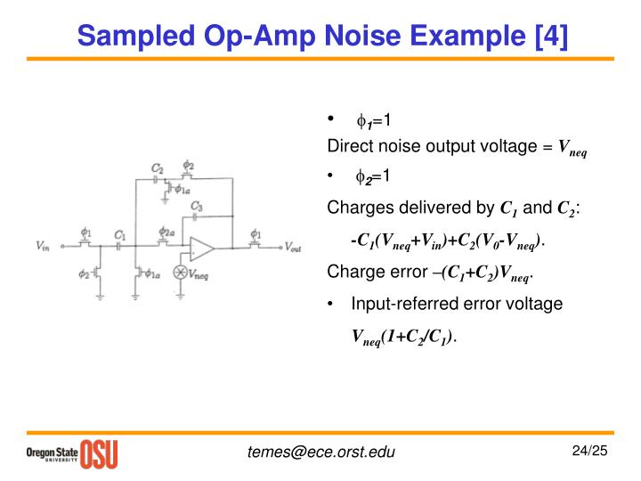Sampled Op-Amp Noise Example [4]