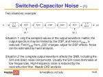 switched capacitor noise 1