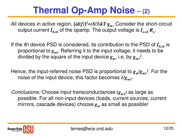 Thermal Op-Amp Noise