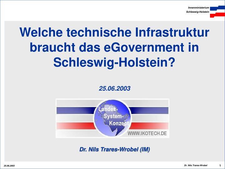 Welche technische Infrastruktur braucht das eGovernment in Schleswig-Holstein?