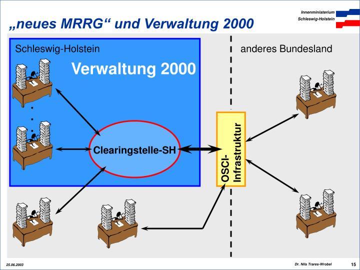 """""""neues MRRG"""" und Verwaltung 2000"""
