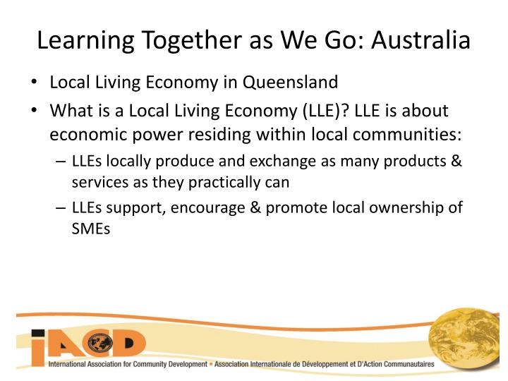 Learning Together as We Go: Australia
