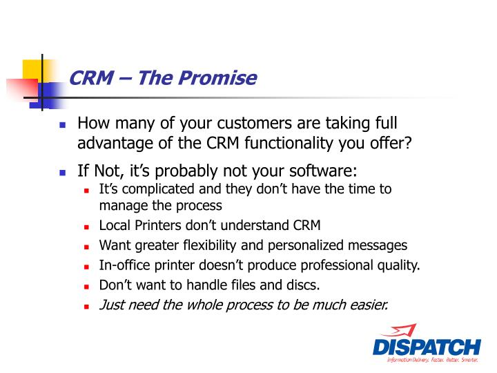 CRM – The Promise